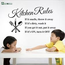 Wall Stickers For Kitchen by Kitchen Rules Living Room Kitchen Vinyl Wall Stickers For Kids
