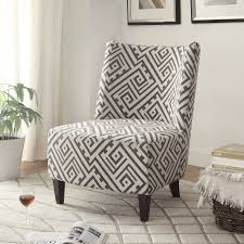 Gray And White Accent Chair Accent Chair In Grey White