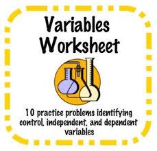 identifying independent and dependent variables worksheet worksheets