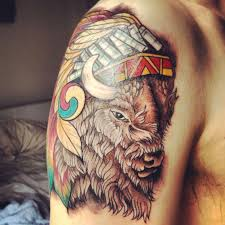 36 best indian bison tattoo images on pinterest buffalo buffalo