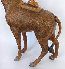 asian giraffe ring holder images Chinese woven reed giraffe trinket box or basket for sale at 1stdibs JPG