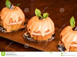 Halloween Bundt Cake Yummy Mini Pumpkin Bundt Cakes Stock Photo Image 58630874