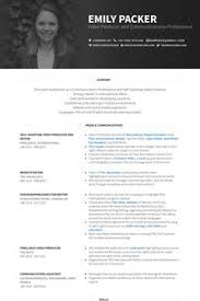 Video Resume Sample Video Producer Resume Example Work Pinterest Cv Examples And