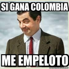 Colombia Meme - meme mr bean si gana colombia me empeloto 3941619
