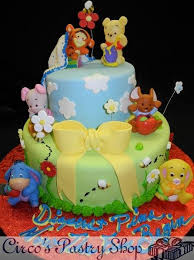 winnie the pooh baby shower cake italian bakery fondant wedding cakes pastries and