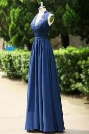 142 99 2017 prom dresses long a line v neck chiffon royal blue