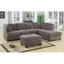 grey l shaped sectional sofas you u0027ll love wayfair