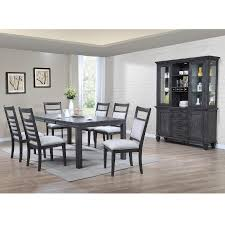 east lane 7 piece dining room table with 6 side chairs bernie