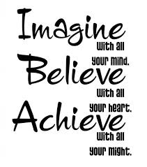 image with your mind believe with all your achieve with