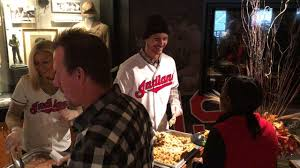 indians at the first thanksgiving indians host thanksgiving for those in need mlb com