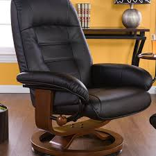 Black Leather Recliner Jagger Recliner And Ottoman Colors Walmart