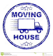 moving house shows buy new home and bungalow stock illustration