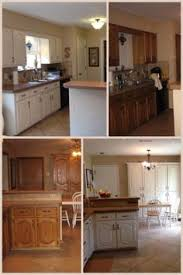 Before And After Pictures Of Painted Kitchen Cabinets A M A Z I N G Rustoleum Transformations Linen Before And After 2