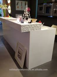 Reception Desk Sale by Modern Prefab Solid Surface Standard Size Fitness Center Reception