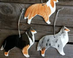 collie ornament etsy
