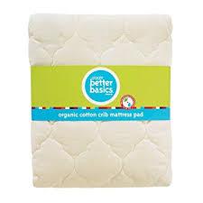 Organic Cotton Crib Mattress Pad Giggle Better Basics Waterproof Crib Mattress Pad