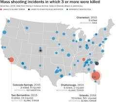 Orlando On Map by Radical Islam Accounts For Few Recent Mass Shootings U2014 But Also