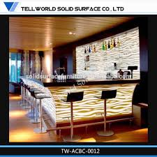 luxury design bar counter color changing bar counter restaurant