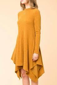 yellow sweater dress hyfve trapeze sweater dress from jersey by waves