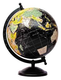 office decor black ocean world globe everything else education