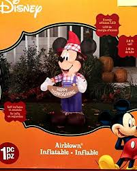 mickey mouse thanksgiving 3 8 foot scarecrow airblown yard