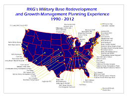 Air Force Bases United States Map by Rkg Associates What We Do Military Base Consulting