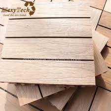 china wholesale interlocking wpc outdoor tile waterproof decking