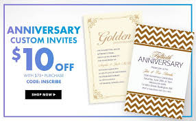 Custom Invitation Anniversary Invitations U0026 Invitation Kits Party City