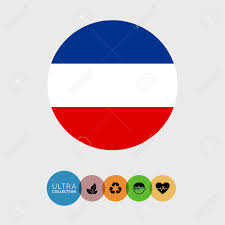 Slavic Flags Set Of Vector Icons With Slavic Flag Royalty Free Cliparts