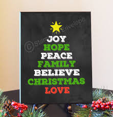 christmas word tree sign chalkboard christmas signs