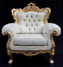 French Armchair Uk A Shaadi Sofa And Two Armchairs In Gold And Cream Ivory