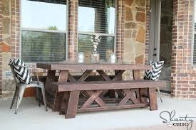 diy outdoor benches for my table shanty 2 chic