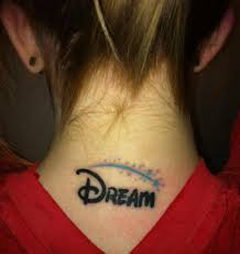 tattoo font walt disney dream in the disney font with the stars from the eff yeah