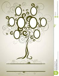 vector family tree design with frames stock photography image