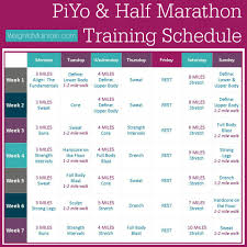 piyo half marathon training plan weigh to maintain