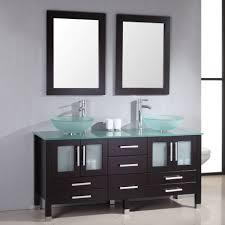 single glass door cabinet bathroom design modern black bathroom vanities showing frosted