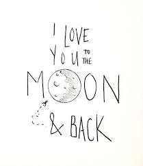 tattoos i you to the moon back and again again and