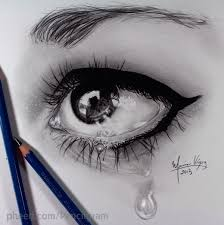 beautiful pencil sketches of eye to draw eyes crying sketch