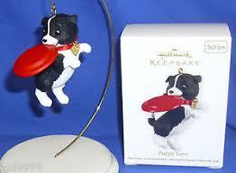 hallmark ornament puppy 22 2012 black white border collie