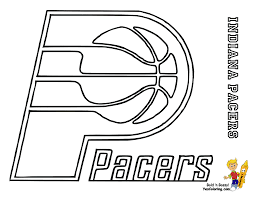pacers printable coloring page
