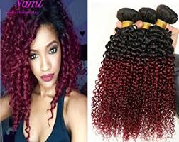 ombre weave 3 bundles curly weave ombre two tone black