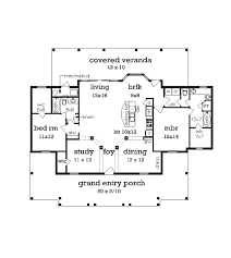 50 X 50 Floor Plans by Cottage Style House Plan 2 Beds 2 Baths 1516 Sq Ft Plan 45 368