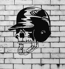 baseball scary skull bat glove sport decor wall mural vinyl art baseball scary skull bat glove sport decor wall mural vinyl art sticker z834