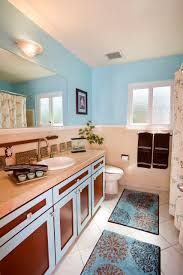 designer bathroom rugs bathroom charming blue bathroom with bath rug and blue and brown