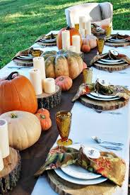 Fall Party Table Decorations - grateful harvest