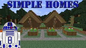 simple homes in minecraft ep 1 roofed forest youtube