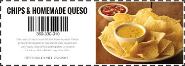 cheddar s coupons cheddar s scratch kitchen free chips queso