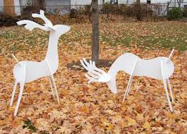 modern outdoor reindeer decorations lighted reindeer