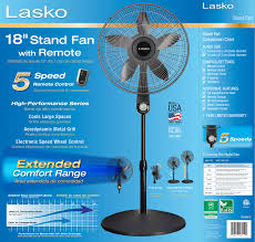 18 4 speed stand fan with remote control model s18601 lasko 18 5 speed performance pedestal fan with remote walmart com
