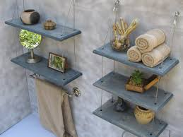Shelving Bathroom by Floating Shelves Bathroom Diy Tall Wooden Shelf Green Stained Wall